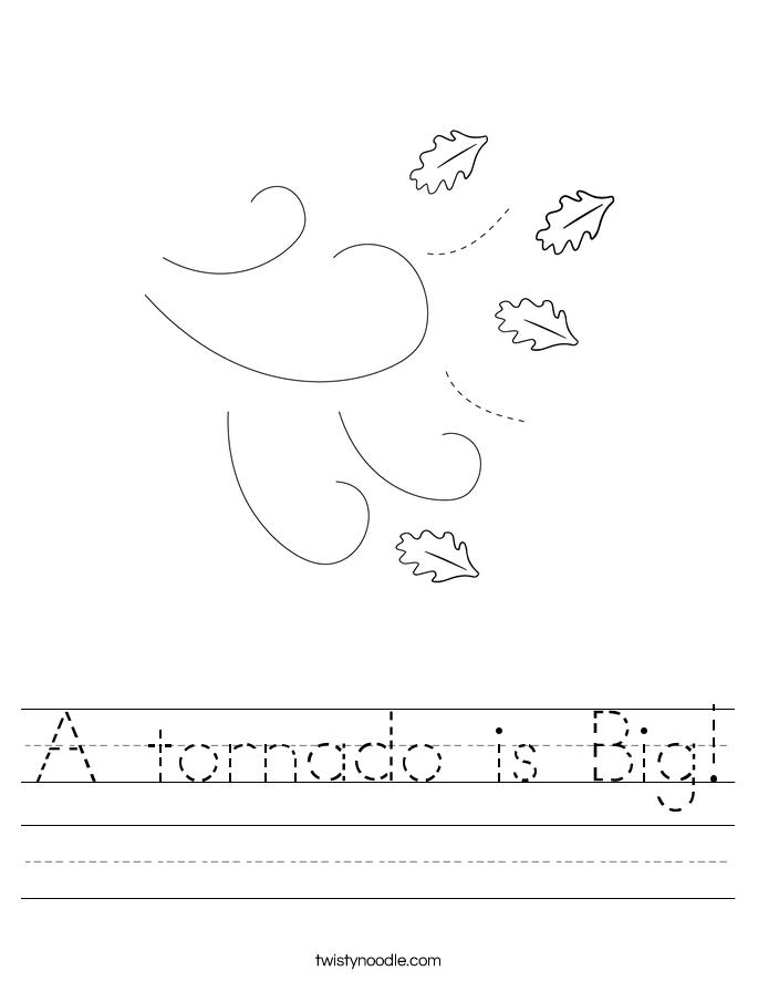 A tornado is Big! Worksheet