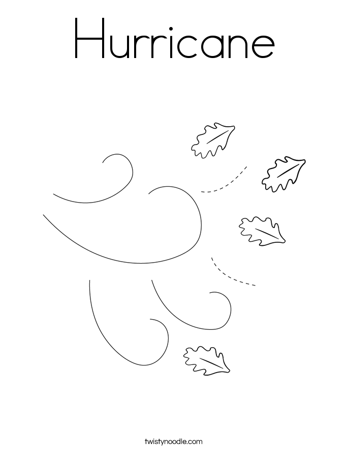 Hurricane Coloring Page