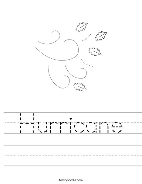 Hurricane Worksheet - Twisty Noodle