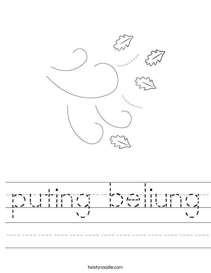 puting beliung Worksheet