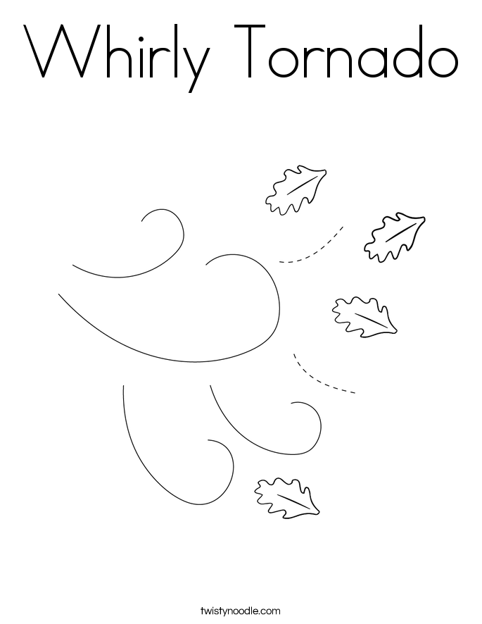 Whirly Tornado Coloring Page