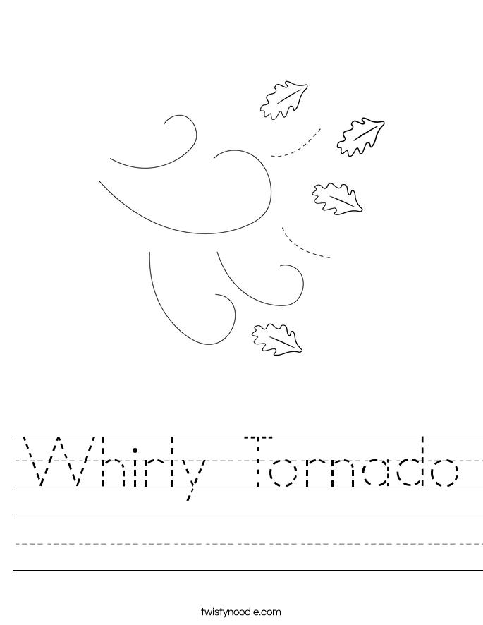 Whirly Tornado Worksheet