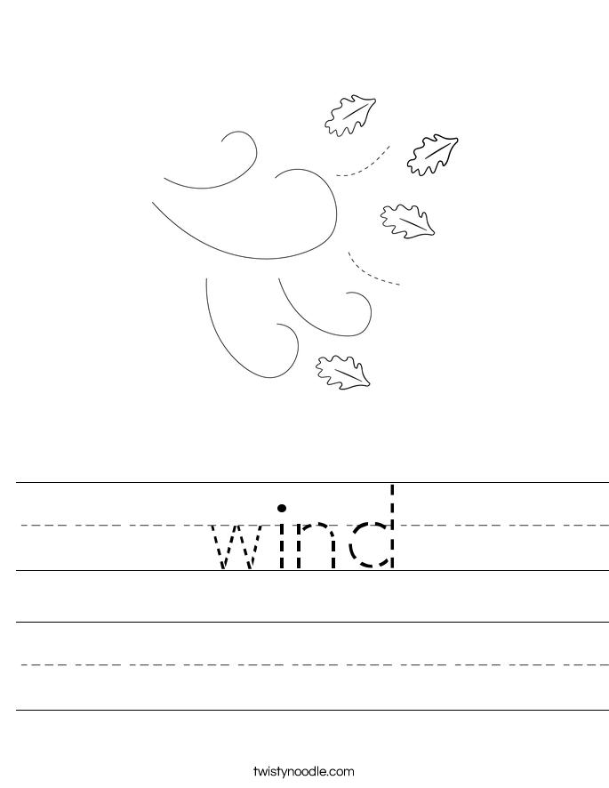 Wind Worksheet Twisty Noodle