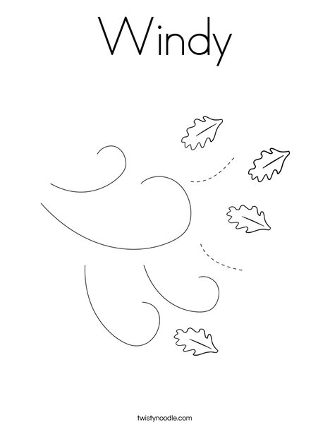 Windy Coloring Page