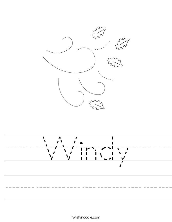 Windy Worksheet Twisty Noodle