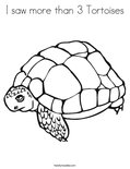 I saw more than 3 Tortoises Coloring Page