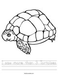 I saw more than 3 Tortoises Worksheet