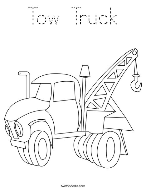 tow truck coloring pages - photo#25