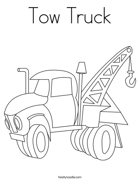 tow truck coloring pages Tow Truck Coloring Page   Twisty Noodle tow truck coloring pages