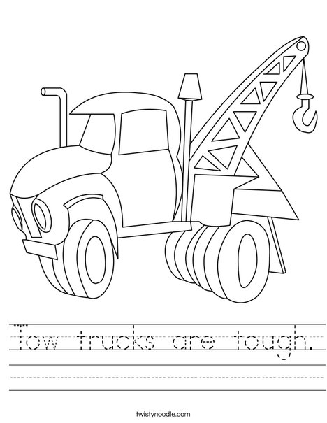 Tow Truck Worksheet