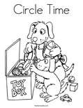Circle Time Coloring Page