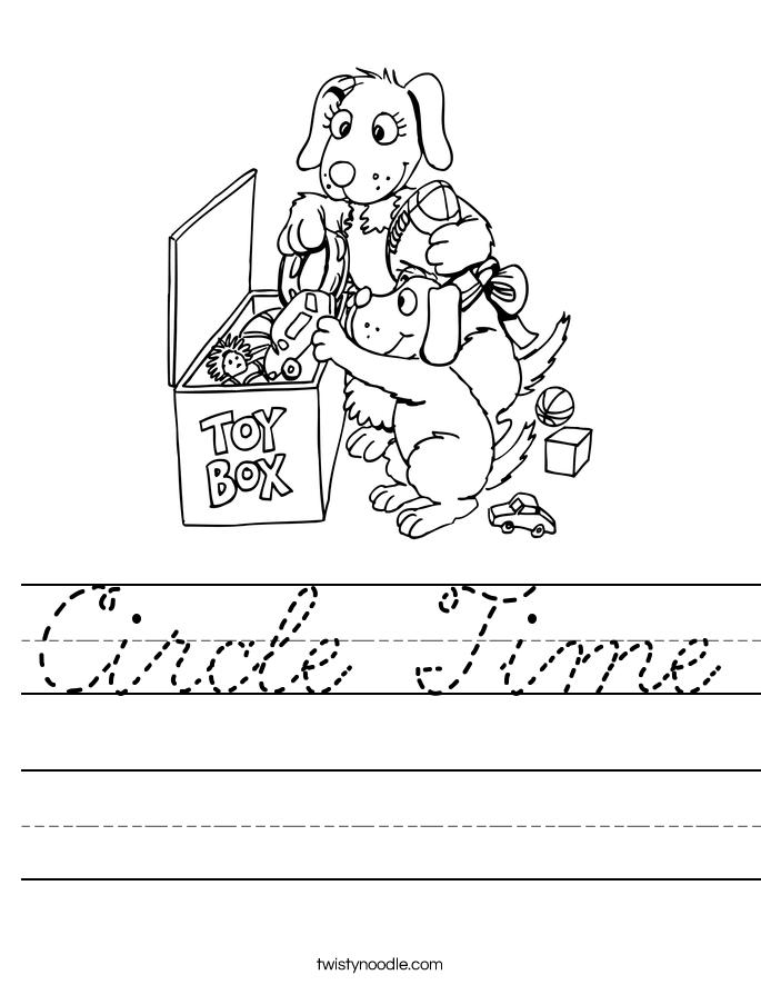 Circle Time Worksheet