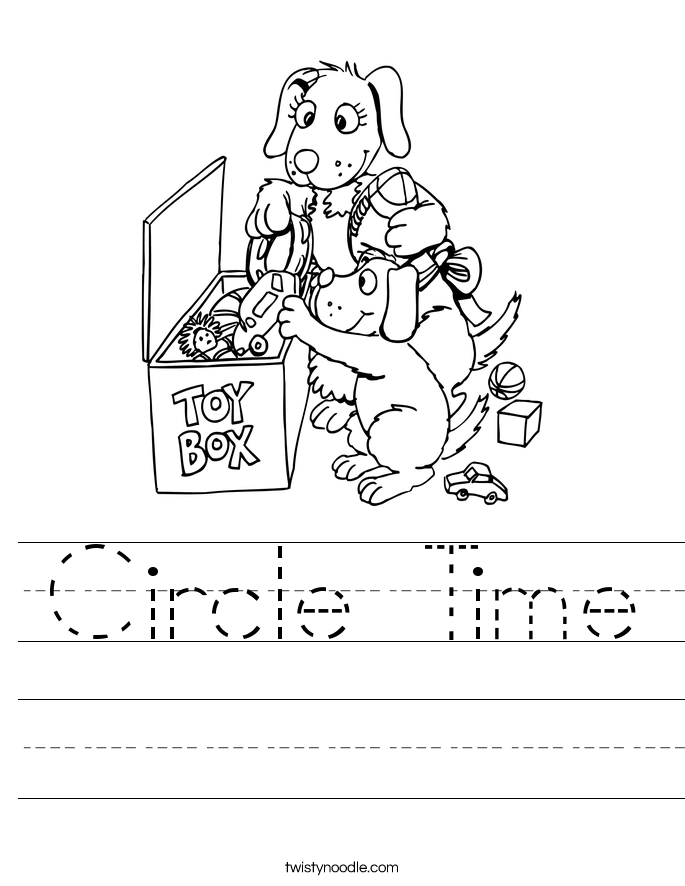 Circle Time Worksheet