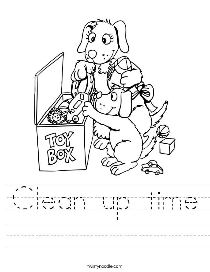Clean up time Worksheet