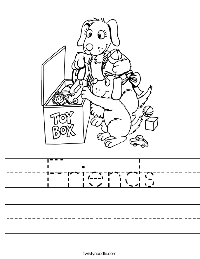 Images of Friends Worksheets - Worksheet for Kids Images Inspirations