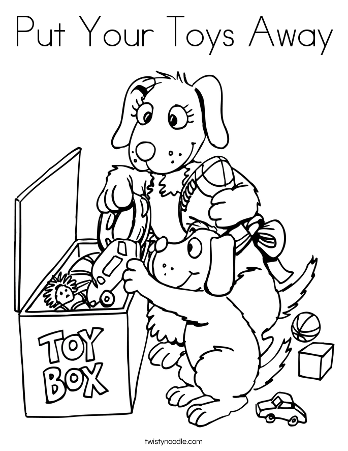 Put Your Toys Away Coloring Page
