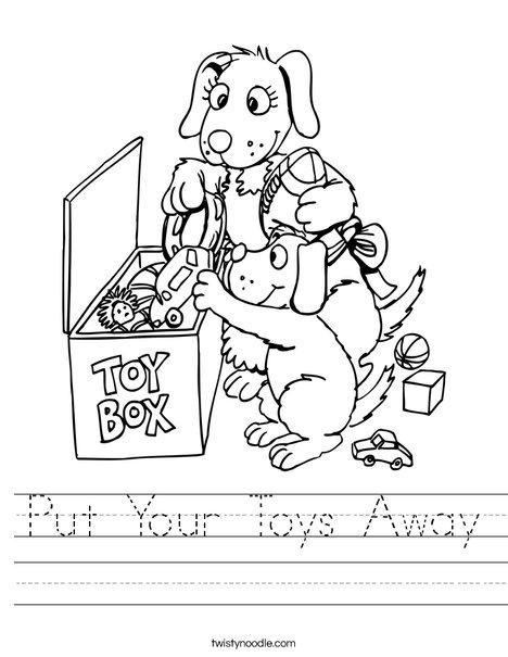 Put Your Toys Away Worksheet