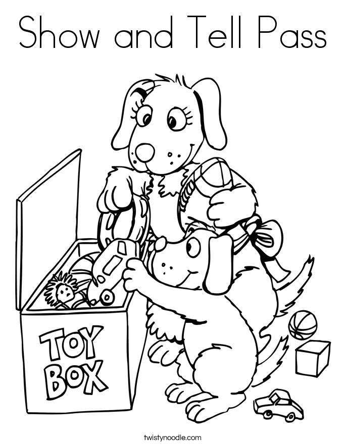 Show and Tell Pass Coloring Page