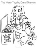 Too Many Toys by David Shannon Coloring Page