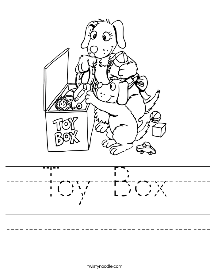 Toy Box Worksheet