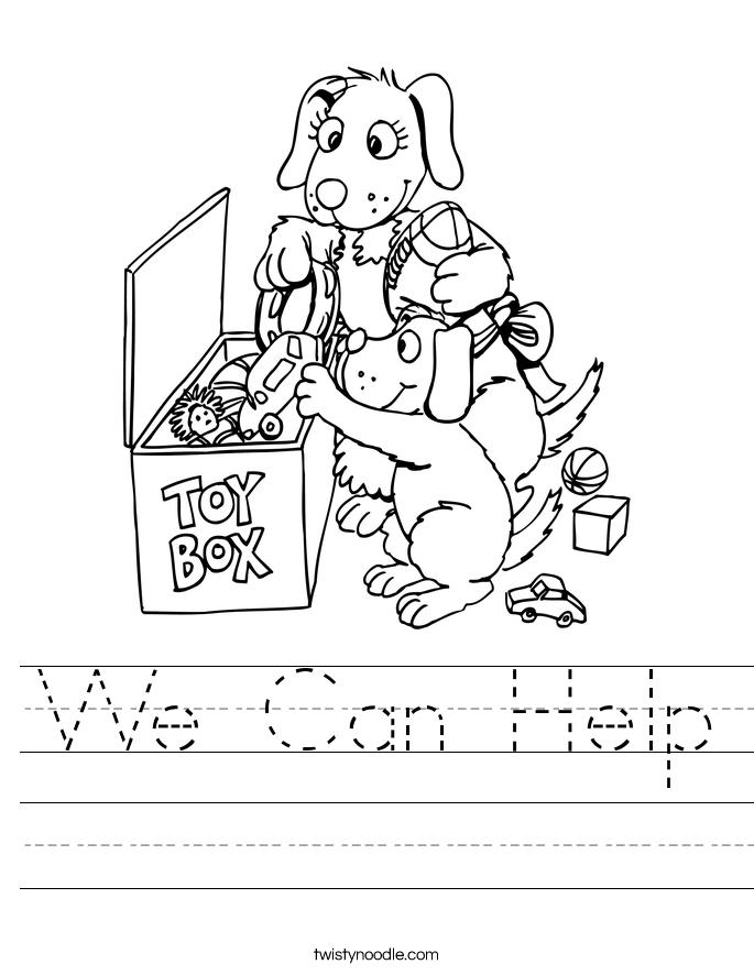 We Can Help Worksheet