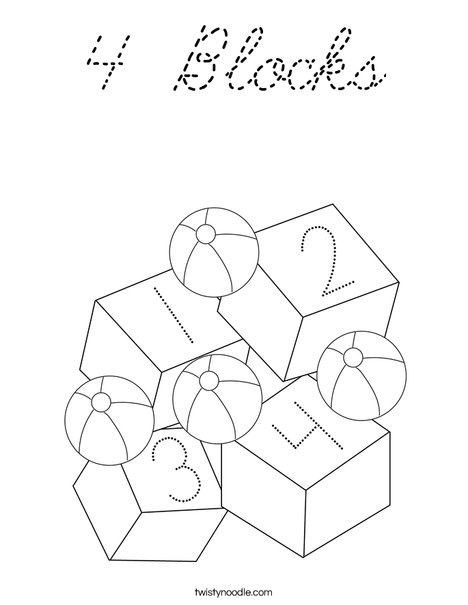 Toys and Blocks Coloring Page