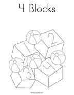 4 Blocks Coloring Page
