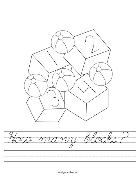 Toys and Blocks Worksheet