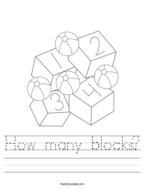 Toys and Blocks Worksheet