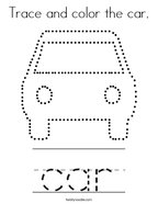Trace and color the car Coloring Page