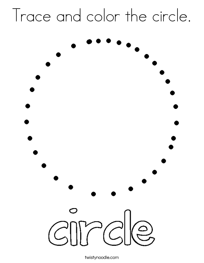 Trace and color the circle. Coloring Page