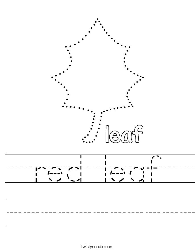 red leaf Worksheet