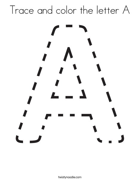 Trace and color the letter A. Coloring Page