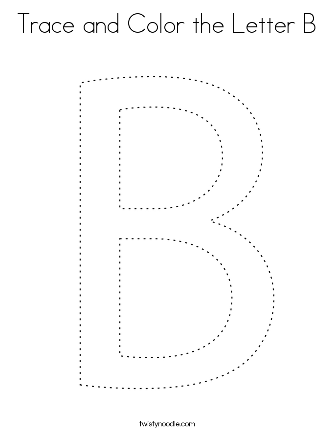 Trace and Color the Letter B Coloring Page