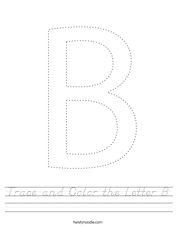 Trace and Color the Letter B Worksheet