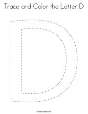 Trace and Color the Letter D Coloring Page