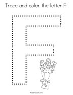 Trace and color the letter F Coloring Page