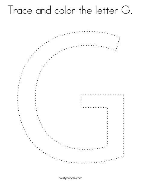 Trace and color the letter G. Coloring Page