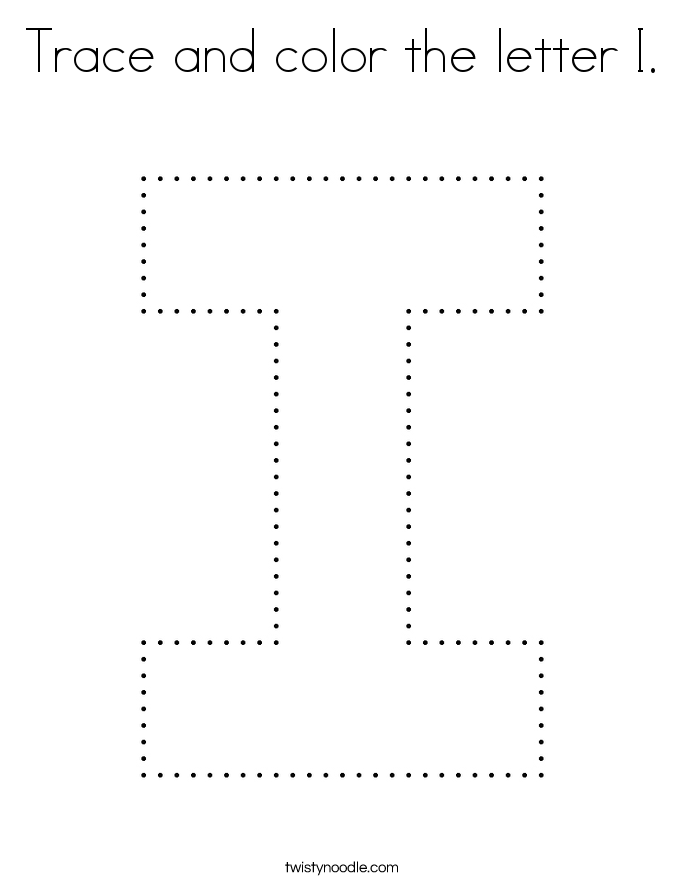 Trace and color the letter I. Coloring Page