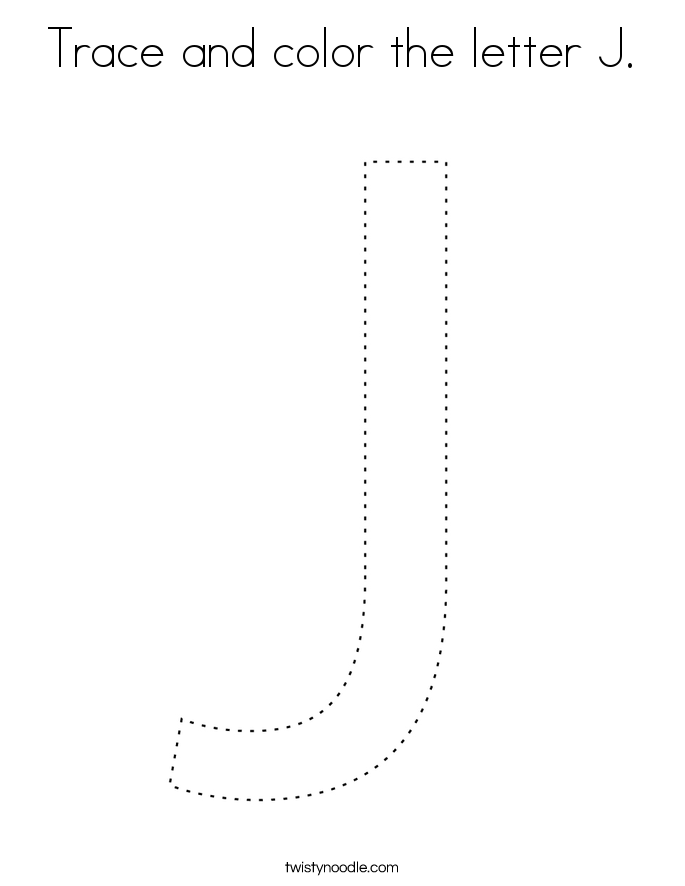 Trace and color the letter J. Coloring Page