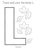 Trace and color the letter L. Coloring Page