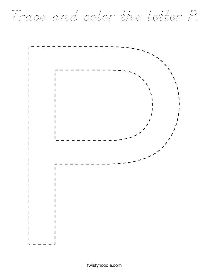 Trace and color the letter P. Coloring Page