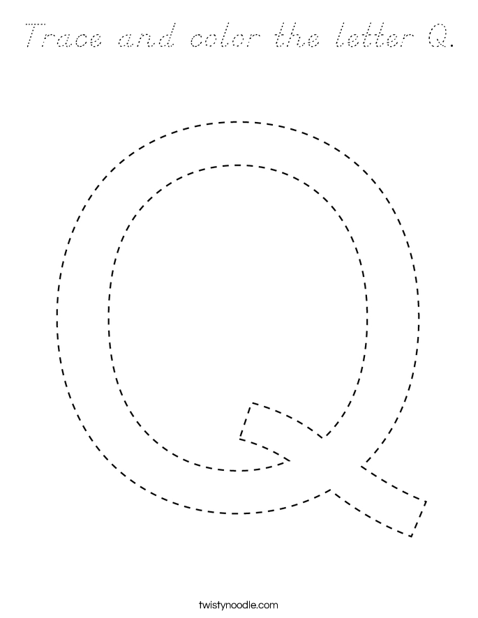 Trace and color the letter Q. Coloring Page