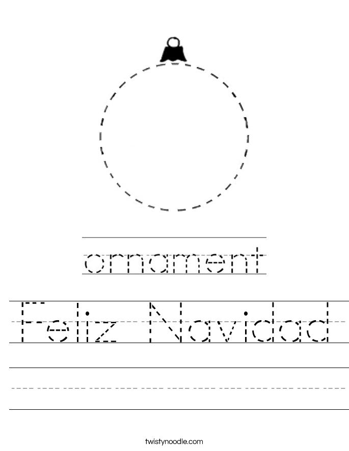 Feliz Navidad Worksheet