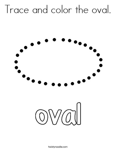 Trace and color the oval. Coloring Page