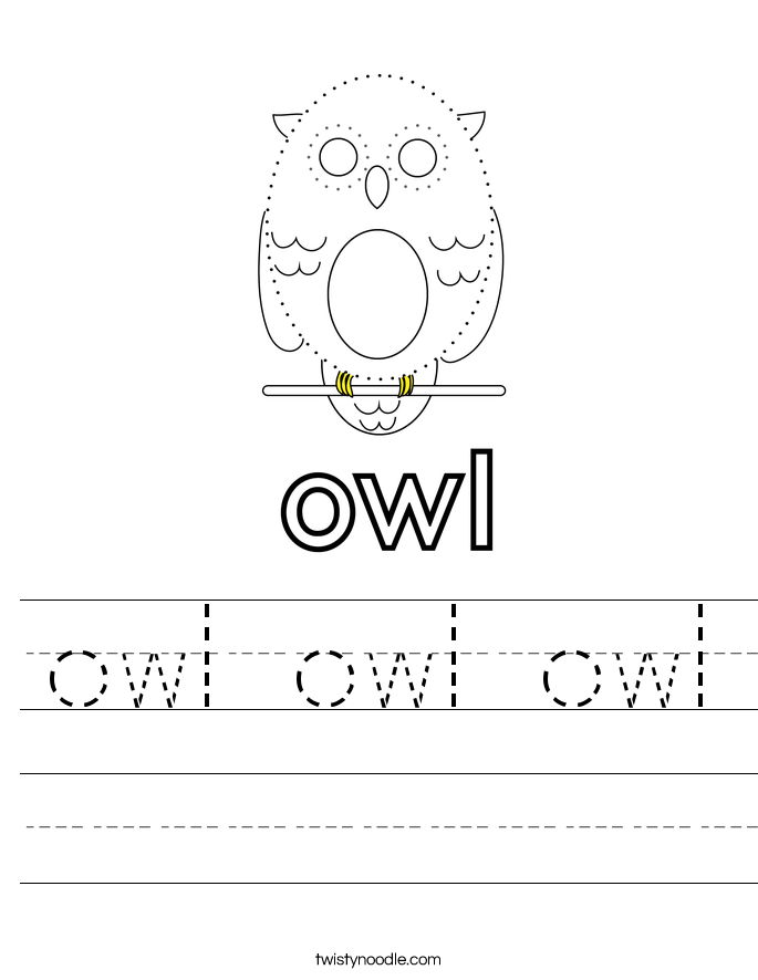 owl owl owl Worksheet