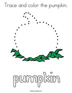 Trace and color the pumpkin Coloring Page