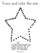 Trace and color the star Coloring Page