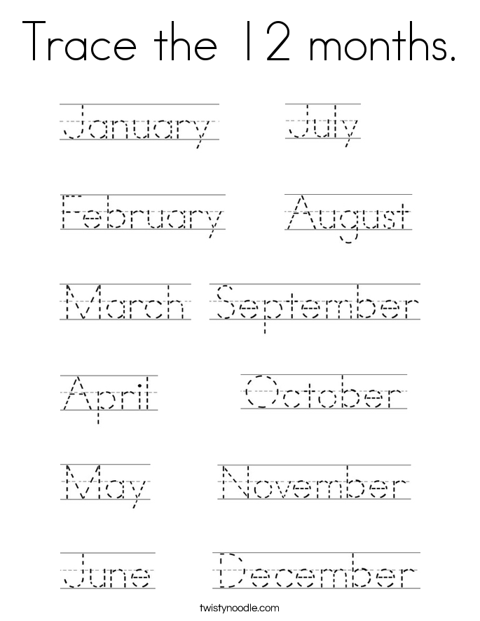 months of the year coloring pages - Akba.greenw.co