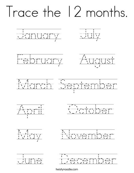 Coloring Pages For January Month